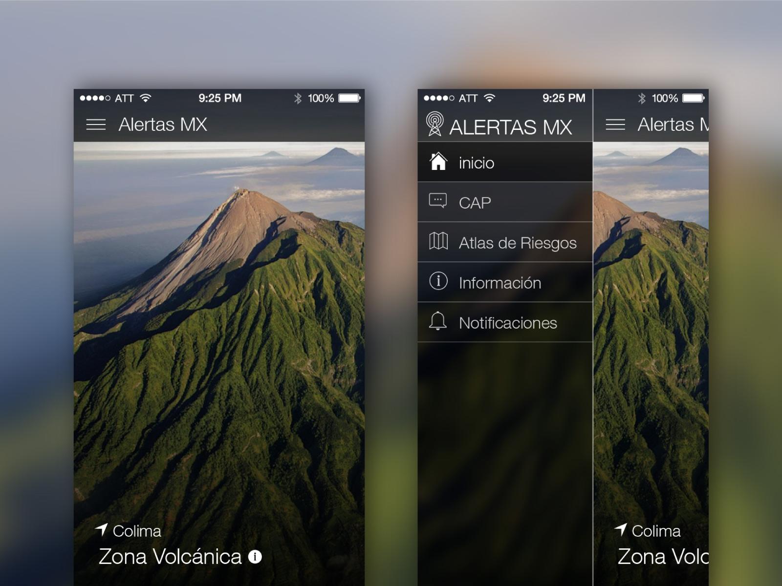 AlertasMX menu