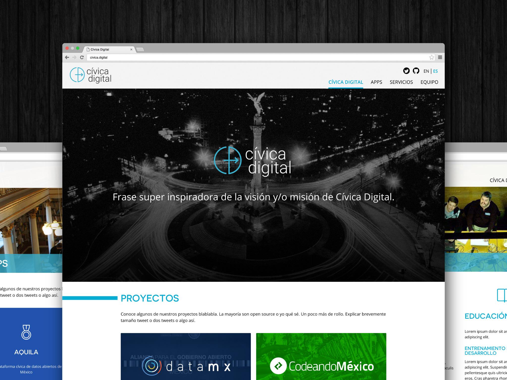 Cívica Digital website
