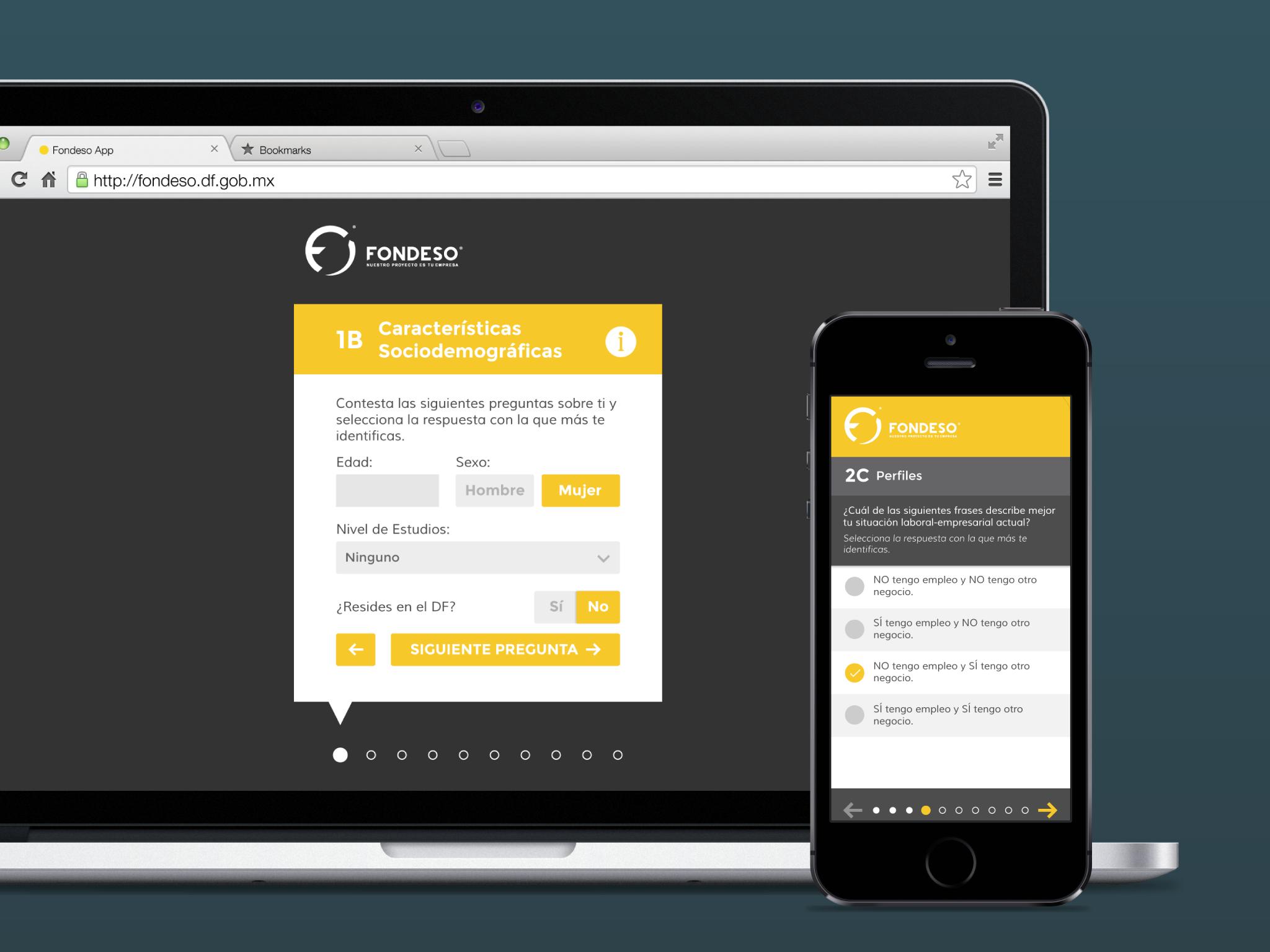 Fondeso web app