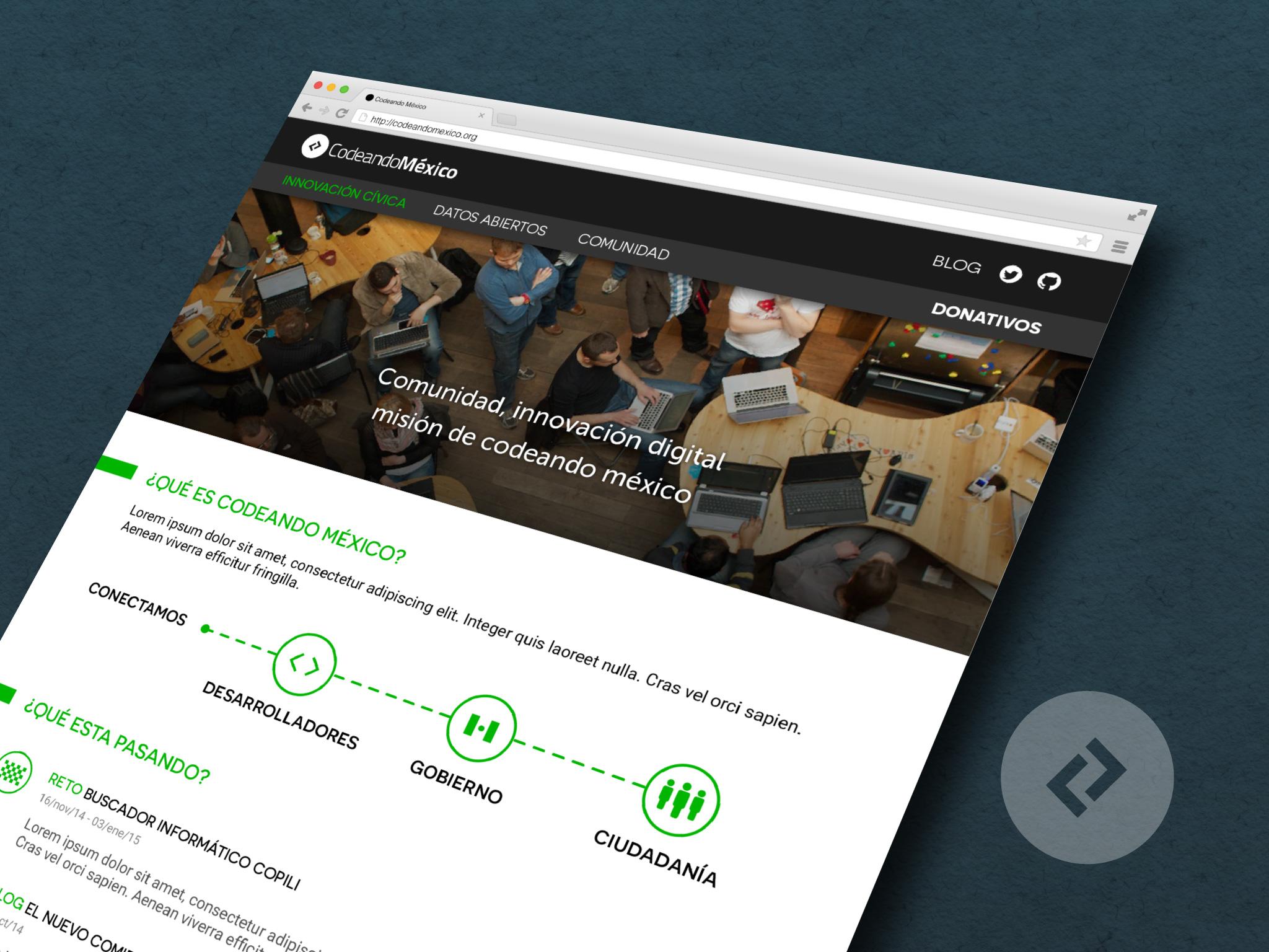 Codeando México Website redesign